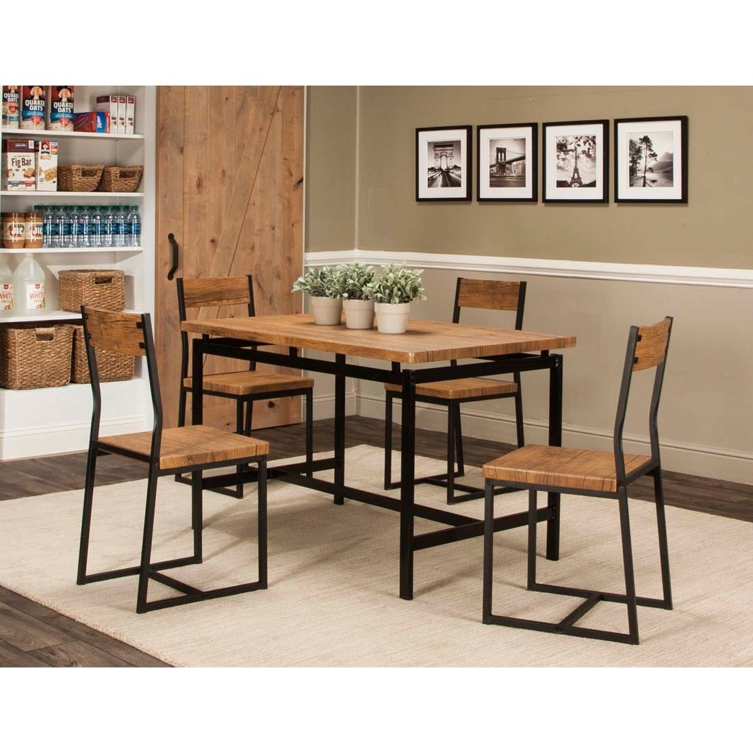 Adler 5-Piece Table and Chair Set by Cramco, Inc at Value City Furniture