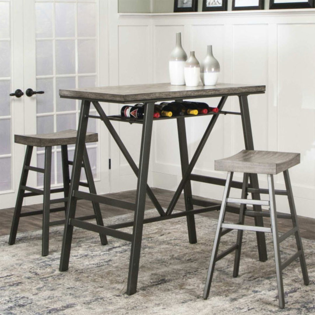 Ascot Pub Table and Barstool Set by Cramco, Inc at Lapeer Furniture & Mattress Center
