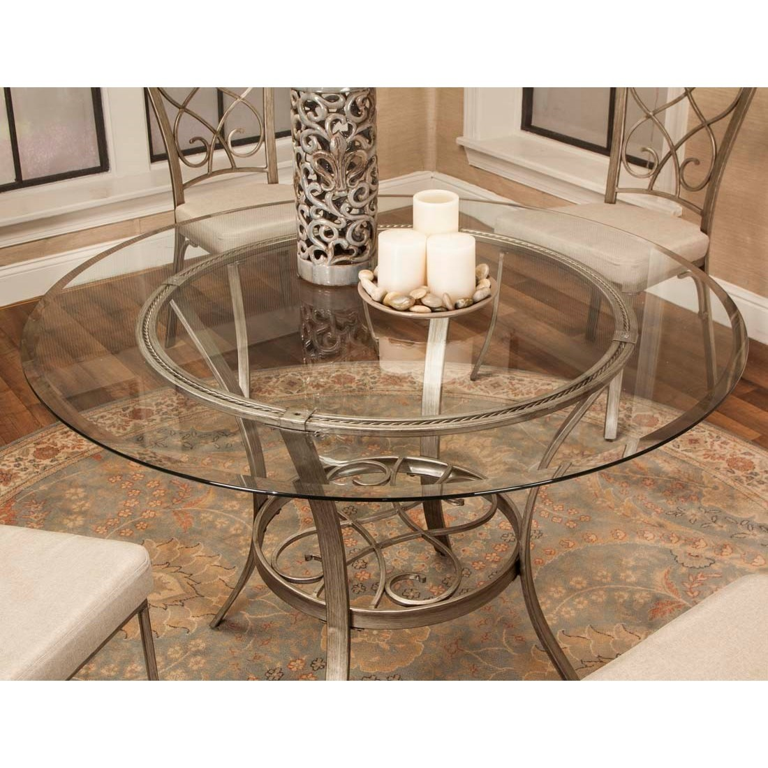 Asti Round Dining Table by Cramco, Inc at Lapeer Furniture & Mattress Center