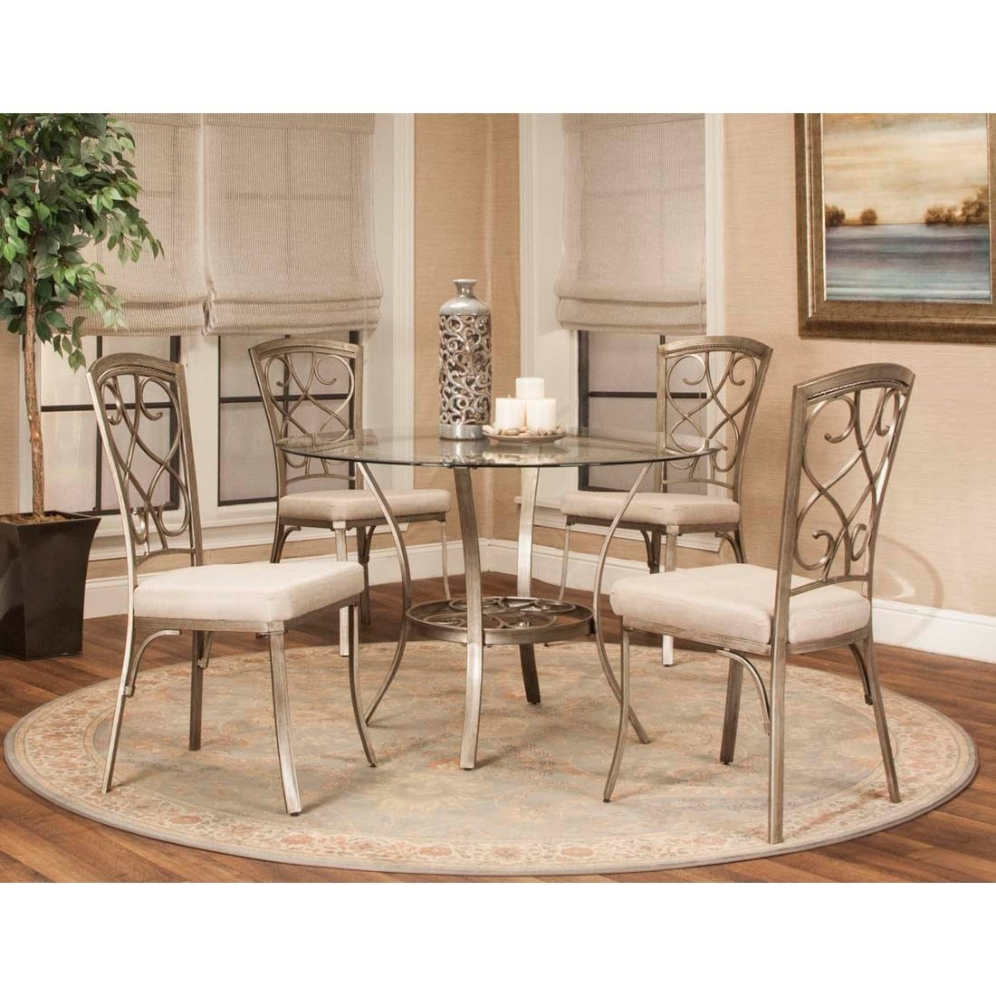 Asti 5-Piece Table and Chair Set by Cramco, Inc at Lapeer Furniture & Mattress Center