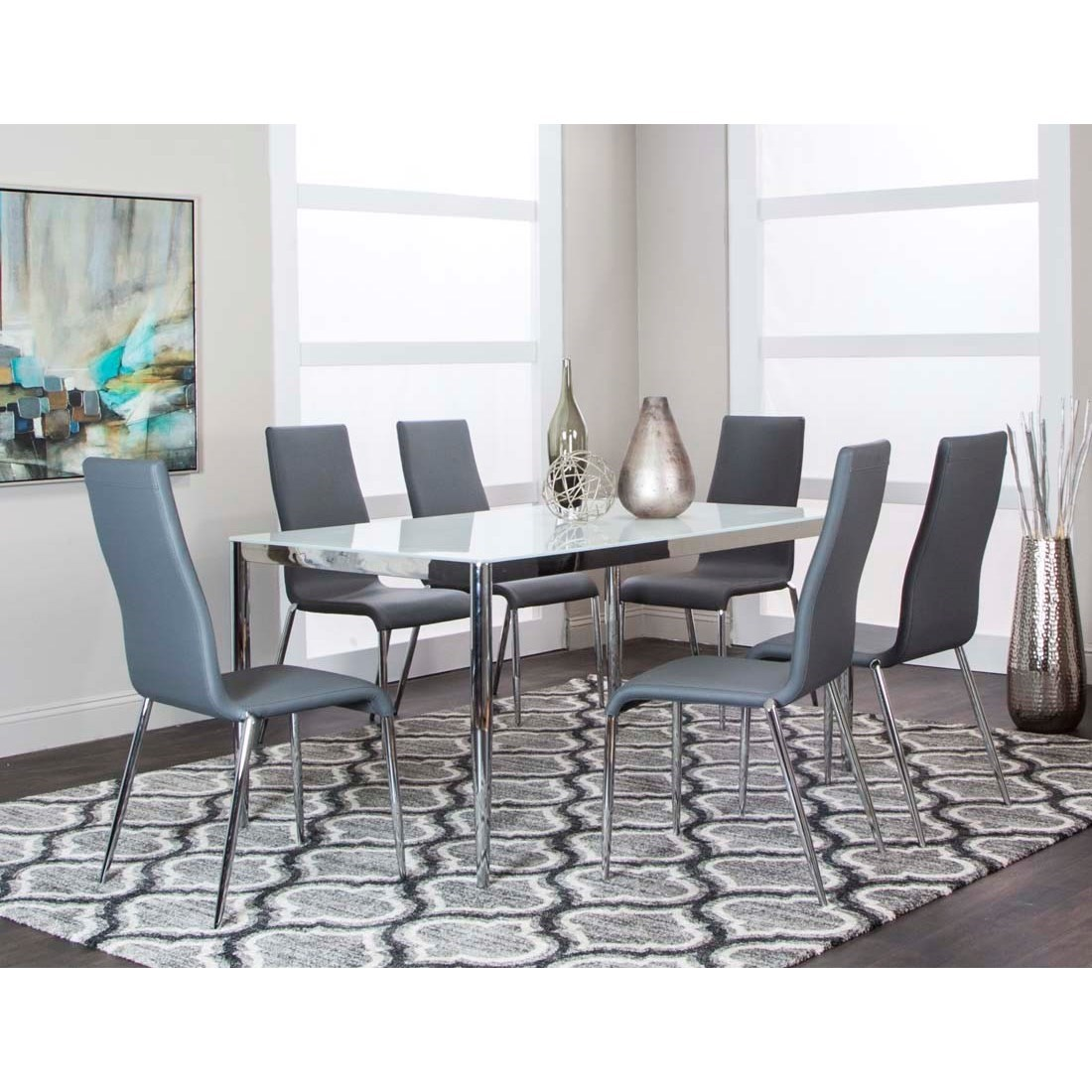 Atom 7-Piece Table and Chair Set by Cramco, Inc at Lapeer Furniture & Mattress Center