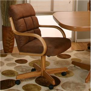 Casual Arm Chair w/ Upholstered  Seat