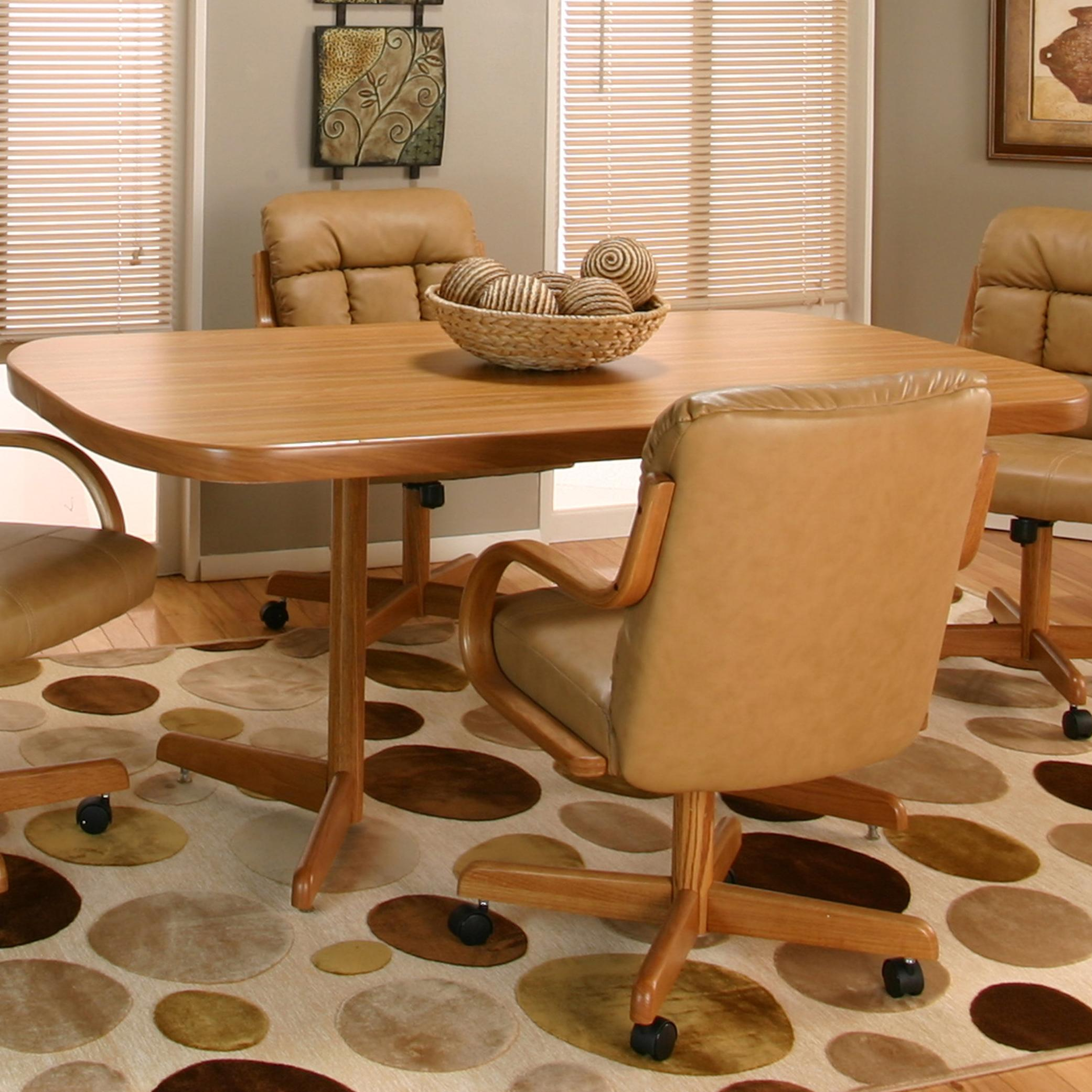 Cramco Motion - Atwood Bow-End Rustic Oak Laminate Table by Cramco, Inc at Value City Furniture