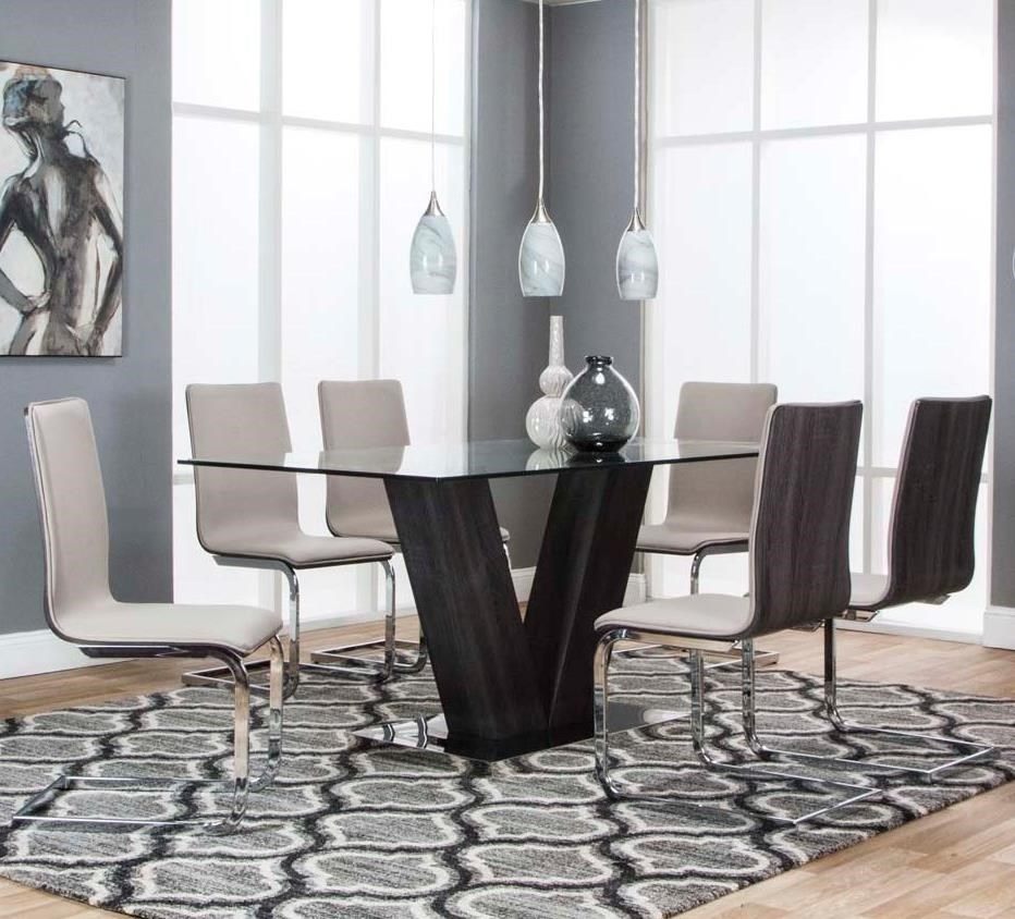 Axel 7-Piece Dining Table Set by Cramco, Inc at Lapeer Furniture & Mattress Center