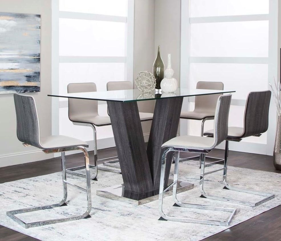 Axel 7-Piece Counter Table Set by Cramco, Inc at Lapeer Furniture & Mattress Center