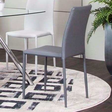 Capri Charcoal Polyurethane Side Chair by Cramco, Inc at Lapeer Furniture & Mattress Center
