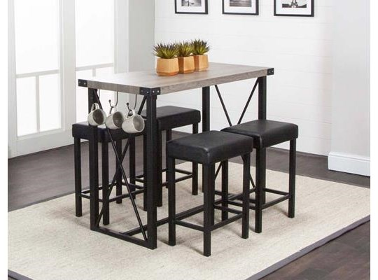 Clary Clary 5-Piece Pub Dining Set at Morris Home