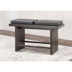 Dining Bench with Split Cushion Seat
