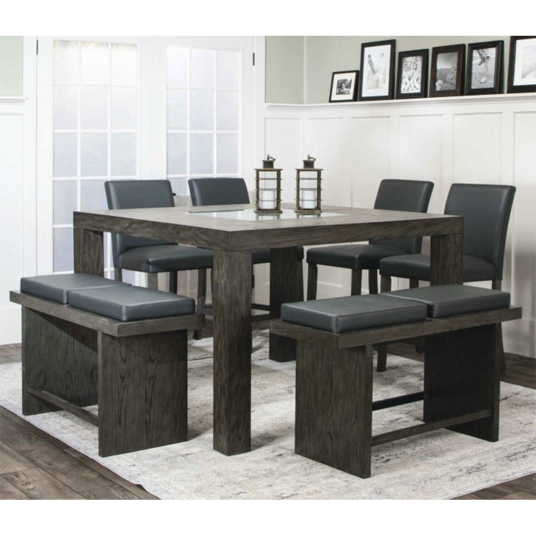 Cougar Table and Chair Set by Cramco, Inc at Lapeer Furniture & Mattress Center
