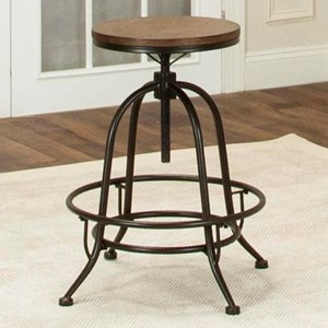 Counter Height Backless Swivel Stool