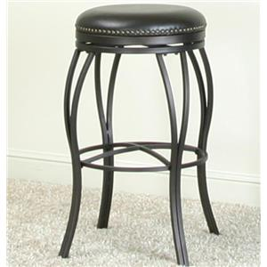Swivel Barstool w/ Nailhead Trimming