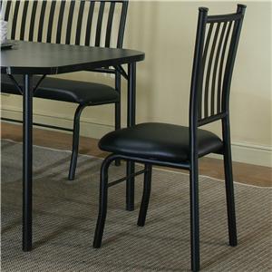Black Texture/Black Vinyl Side Chair