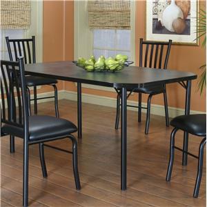 "60"" Rectangular Clipped Corner Indigo Laminate Table"