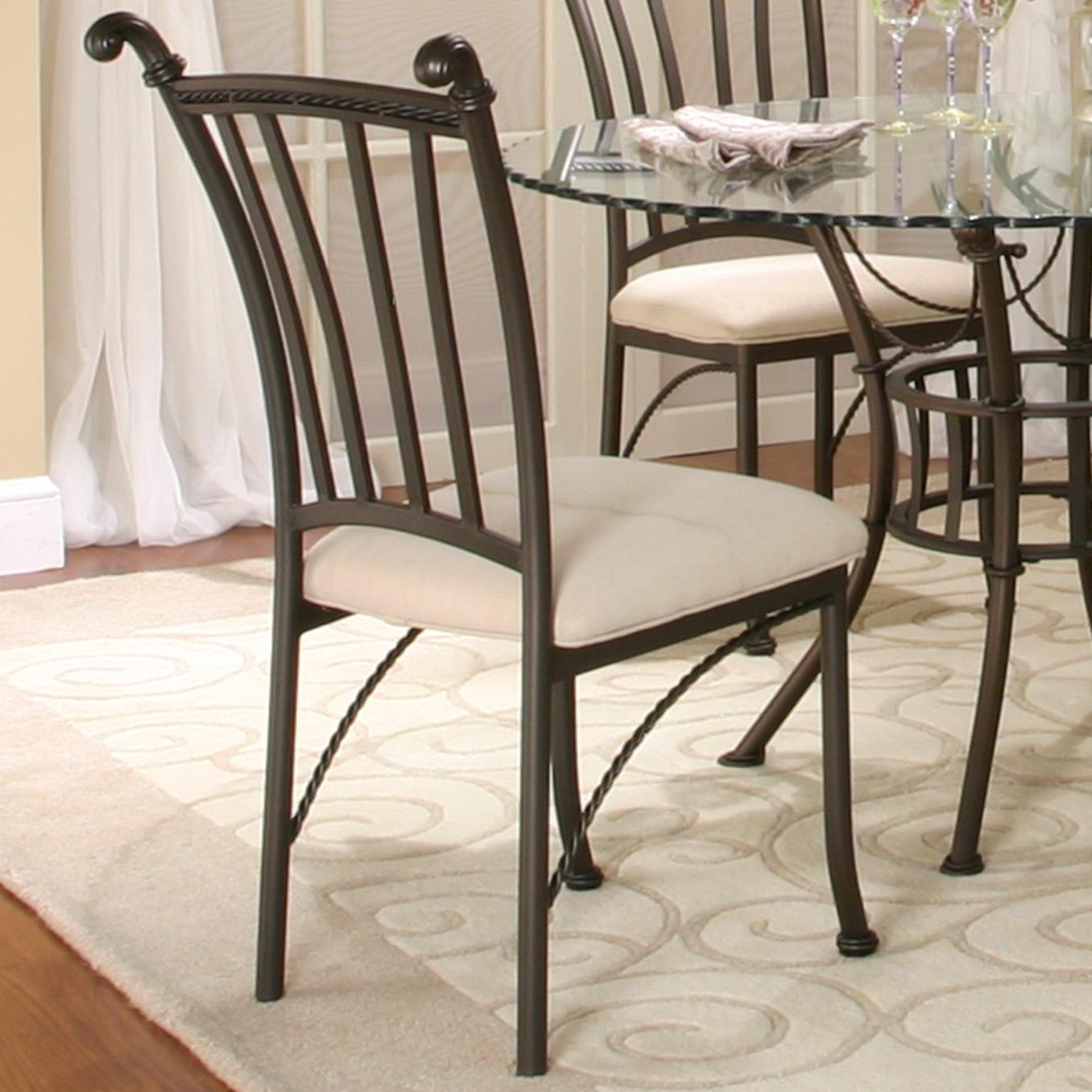 Denali Molten Earth/Stone Microsuede Side Chair by Cramco, Inc at Nassau Furniture and Mattress