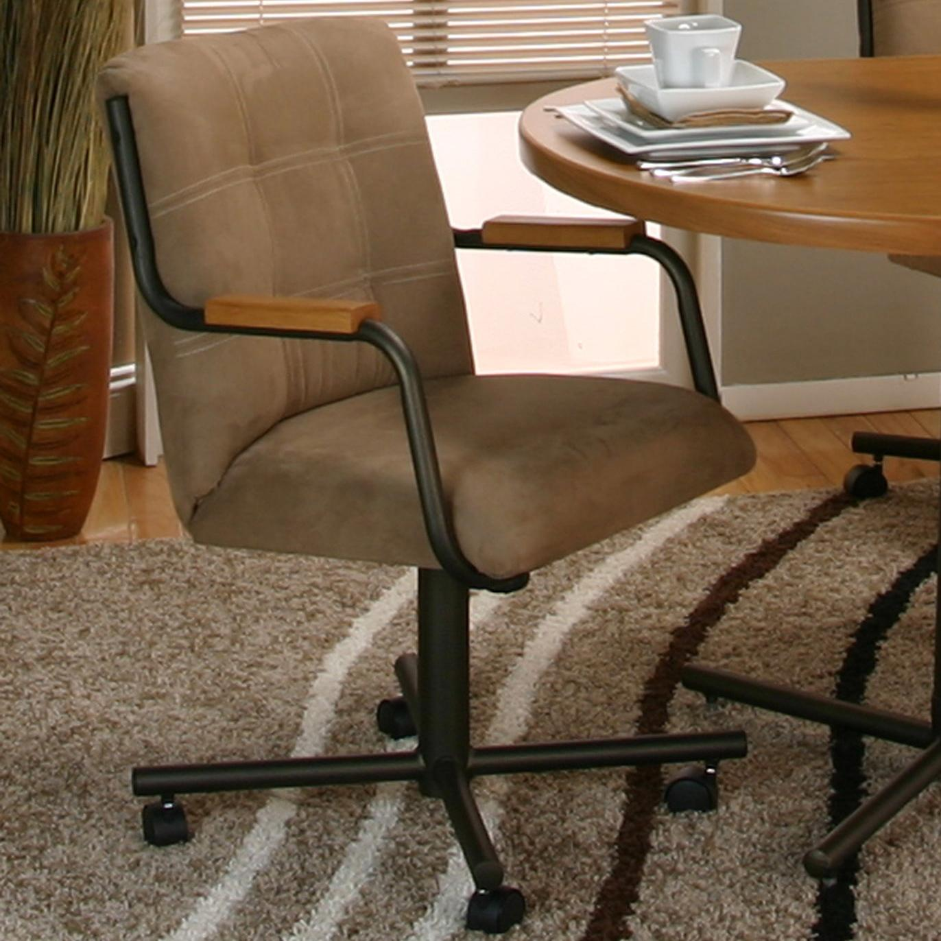 Cramco Motion - Dillon  Espresso Tilt-Swivel Chair  by Cramco, Inc at Nassau Furniture and Mattress