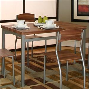Platinum/Acacia Veneer Table
