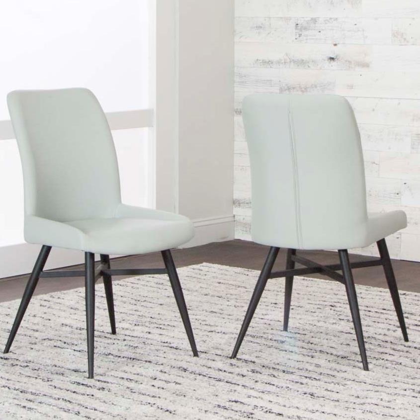 Lemans Medium Gray Polyurethane Side Chair by Cramco, Inc at Corner Furniture