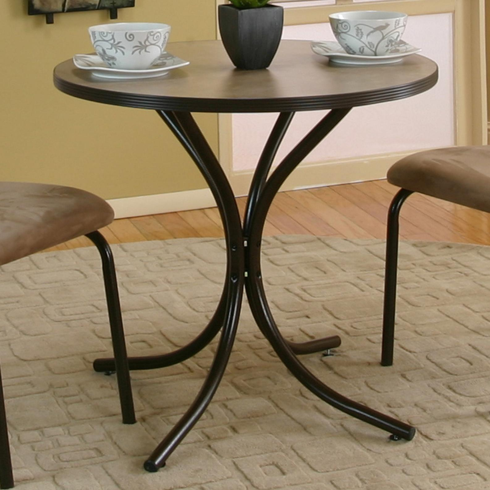 cramco inc linen round beige linen laminate top table