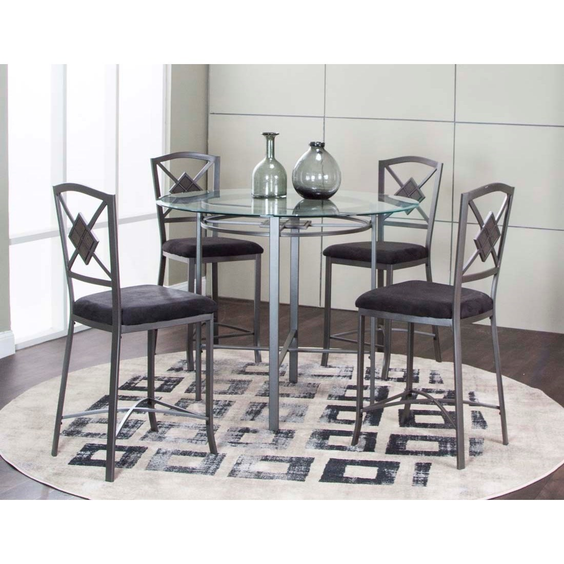 Milano 5-Piece Counter Height Table and Chair Set by Cramco, Inc at Nassau Furniture and Mattress