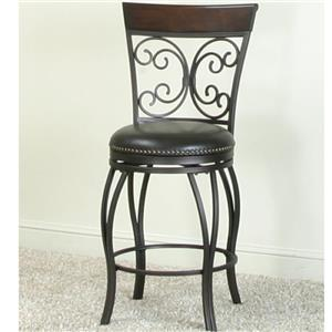 Counter Swivel Stool with Nail Head Trim