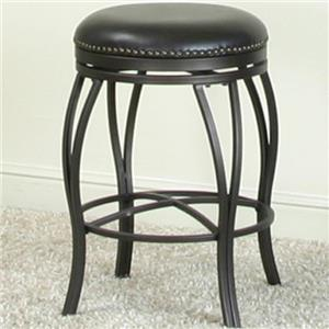 Swivel Counter Stool with Nail Head Trim