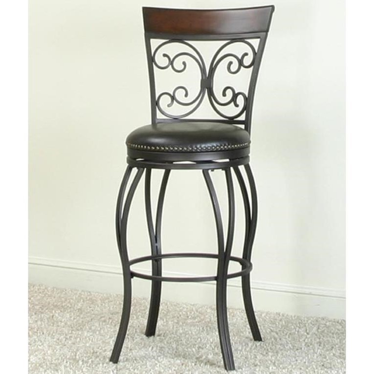 Monza Swivel Bar Stool by Cramco, Inc at Nassau Furniture and Mattress
