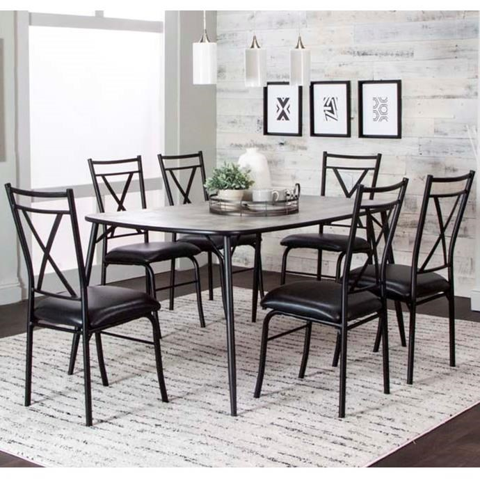 Parx 7-Piece Table and Chair Set by Cramco, Inc at Nassau Furniture and Mattress