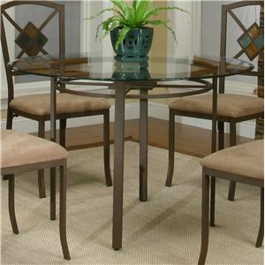 Round Metal Table w/ Glass Top