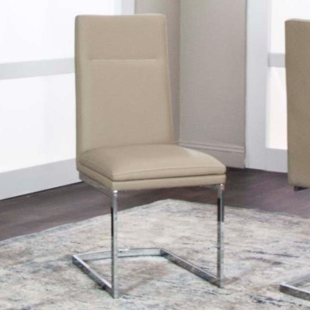 Reliant Khaki Polyurethane/Chrome Side Chair by Cramco, Inc at Nassau Furniture and Mattress