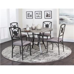 Gray 5 Piece Dining Room Set