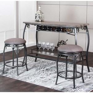 3 Piece Bar Dining Set