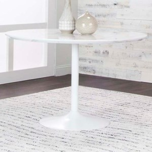 Tia Round Faux Marble Top Dining Table