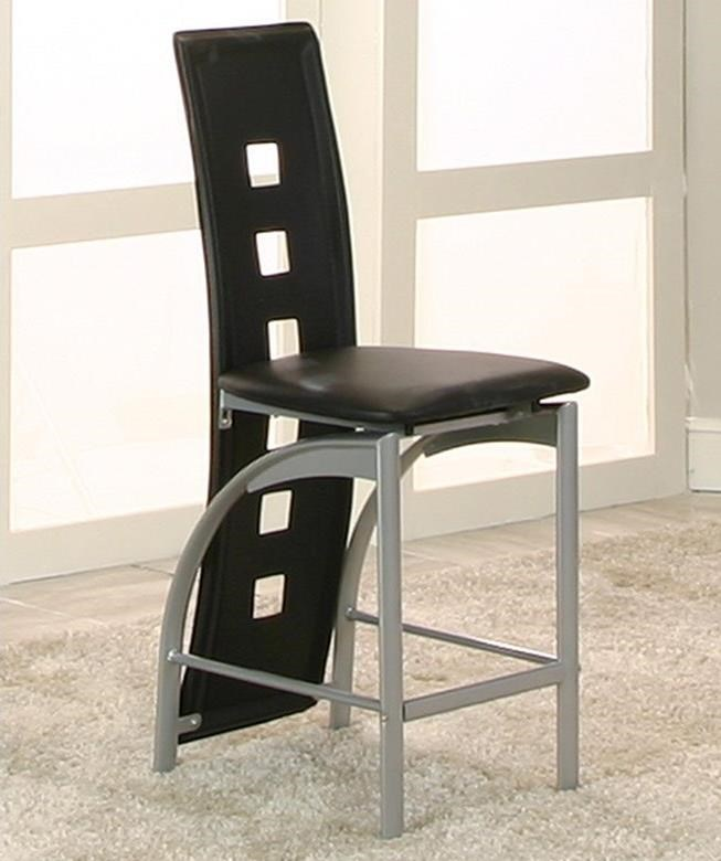 """Valencia Platinum/Black 24"""" Counter Height Stool by Cramco, Inc at Lapeer Furniture & Mattress Center"""