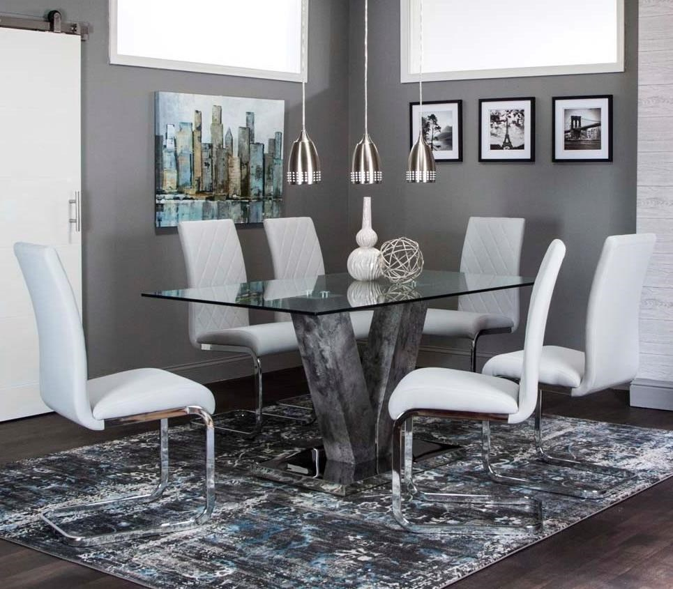 """Veneto 63"""" Dining Table and Chair Set by Cramco, Inc at Lapeer Furniture & Mattress Center"""