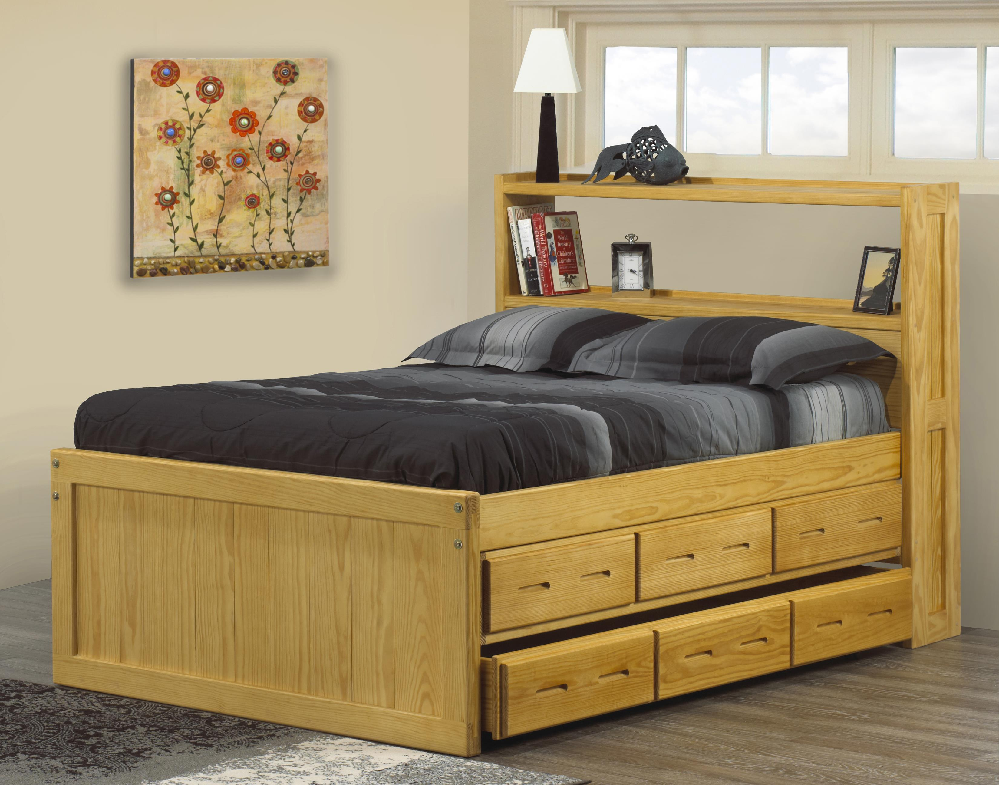 Crate Designs - Bedroom Twin Captain's Bookcase Bed by Crate Designs at Reid's Furniture