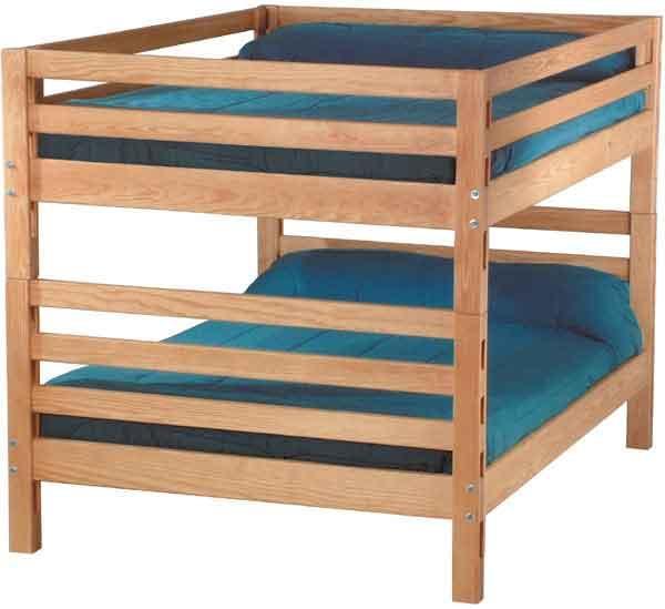 Pine Bedroom Bunk Bed by Crate Designs at Reid's Furniture
