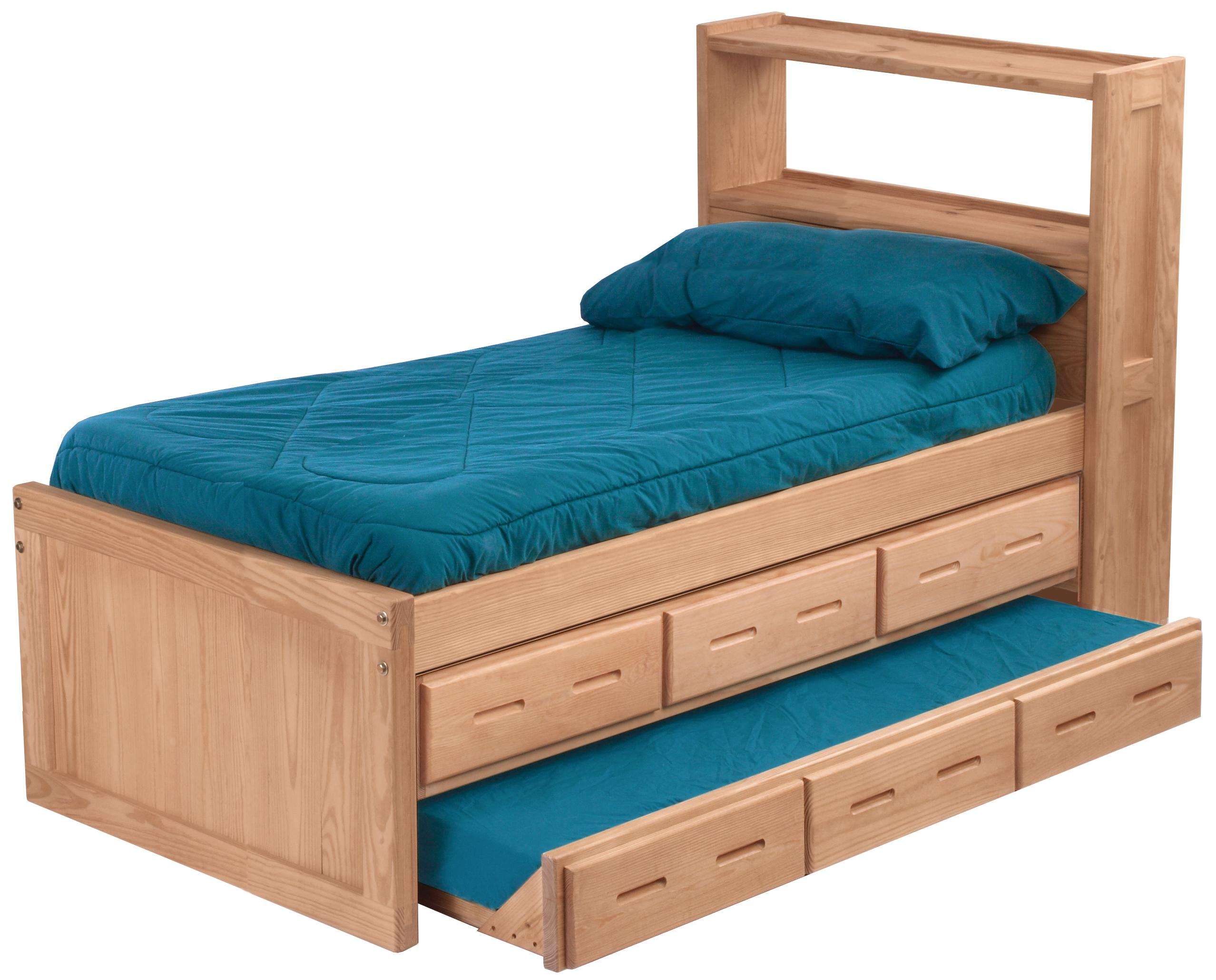 Pine Bedroom Twin Captain's Bed by Crate Designs at Jordan's Home Furnishings