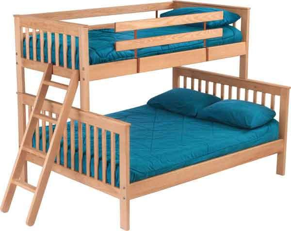 Pine Bedroom Bunk Bed by Crate Designs at Jordan's Home Furnishings