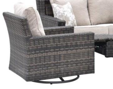 Ocean Ocean Swivel Club Chair at Morris Home