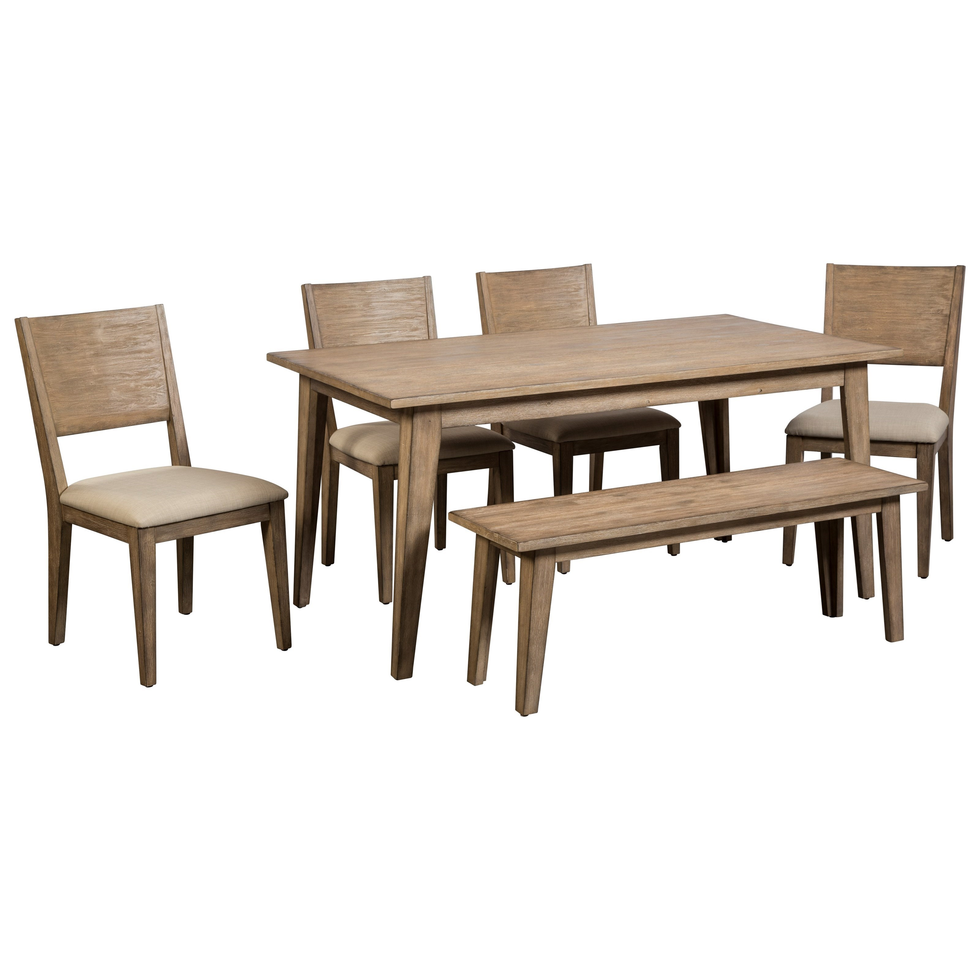 Anders  6 Piece Table and Chair Set with Bench at Williams & Kay