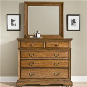 Cresent Fine Furniture Cresent Classics - Casual Living Small Media Dresser & Mirror