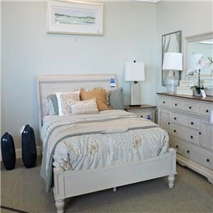 Queen White Sleigh Bed Bedroom Group