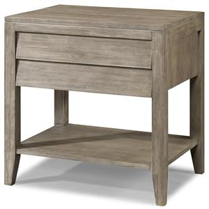 Powered Nightstand with Shutter Drawer