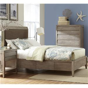 King Upholstered Low Profile Bed