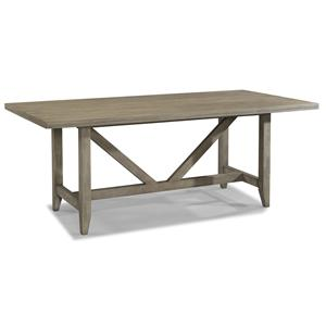 Contemporary Trestle Dining Table