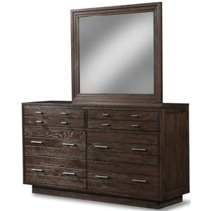 Cresent Fine Furniture Hampton Dresser & Mirror