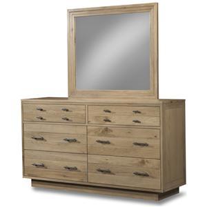 Cresent Fine Furniture Hudson Dresser & Mirror