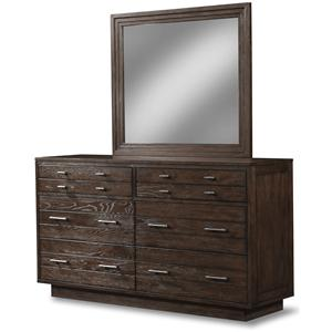 Cresent Fine Furniture Hudson Dresser & Mirror