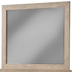 Dresser Mirror in Wirebrushed Greystone Finish