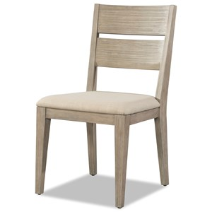 Wood Dining Chair with Upholstered Seat